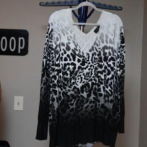 Lane Bryant Ombré Animal Print Sweater Sz 22/24